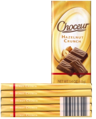 Choceur Chocolate Tablets - Hazelnut Bars 1.4oz/40g (5 tablets)